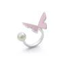 rose papillon ring